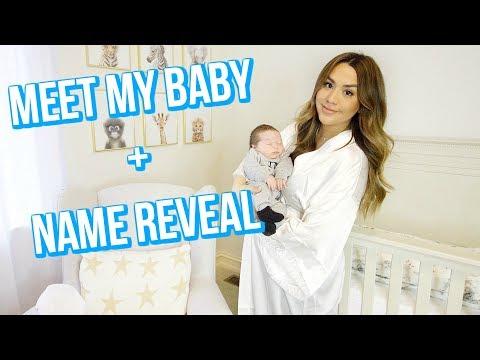 MEET OUR BABY + NAME REVEAL! ALEXANDREA GARZA