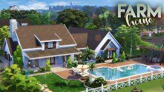 FARMHOUSE || 3 Bdr + 2 Bth Family Home || The Sims 4: Speed Build [NO CC]