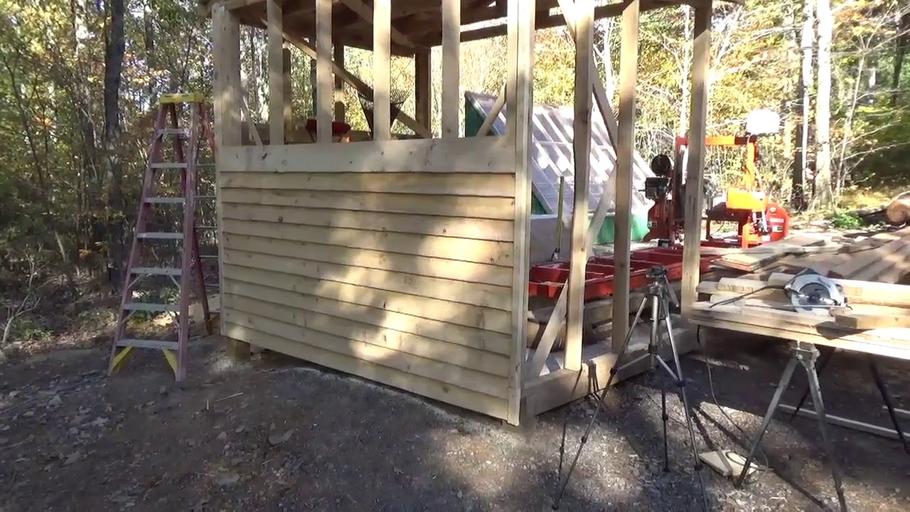 Hanging White Pine Lap Siding That Was Cut With The