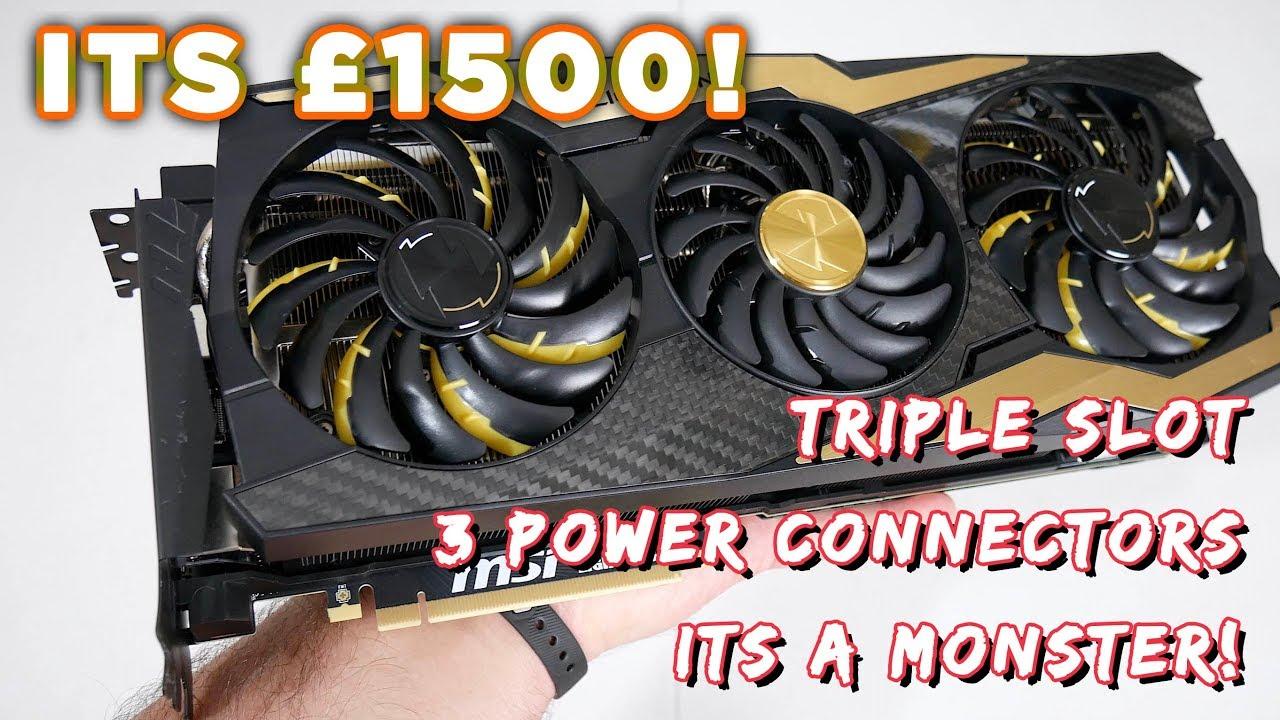 MSI RTX 2080 Ti Lightning Z Review - The £1500 triple slot RTX Monster !
