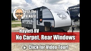 UPDATED 2019 Grey Wolf 20RDSE No Slide & No Carpet Rear Windows Couple's Camping Travel Trailer