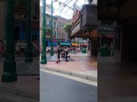 Chad Brih Travel Video: Singapore Universal Studios dancing
