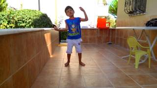 Funny boy dancing like zombie michael jackson