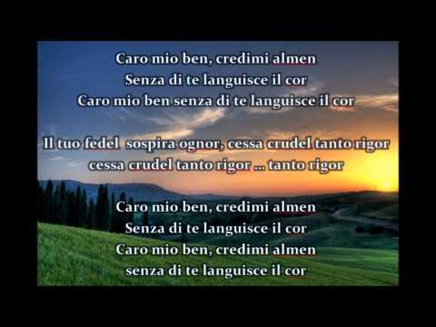 Caro mio ben ornella de luca soprano 2010 doovi - Testo di casta diva ...