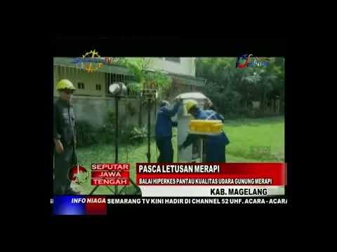 Pasca Letusan Merapi Balai Hiperkes Pantau Kualitas Udara Gunung Merapi