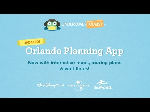 Now with Interactive Maps! Undercover Tourist's Free Disney World Maps, Park Plans, Wait Times App