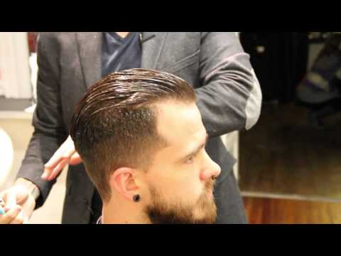 Pompadour haircut - how to cut a pompadour haircut - how to style a pompadour - Clipper over comb