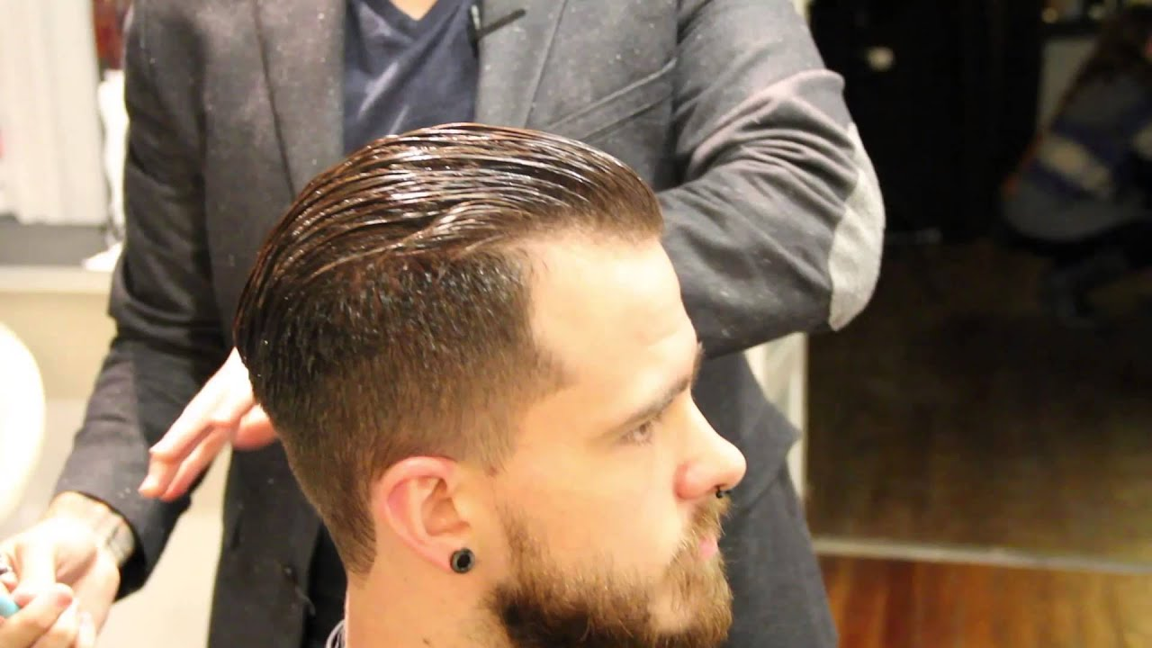 Mens Hair Cut Style: How To Cut A Pompadour Haircut