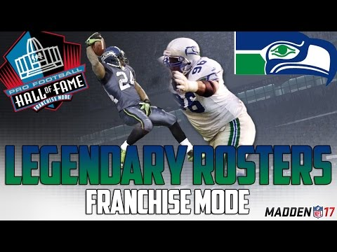 Legendary Seattle Seahawks Roster | Madden 17 Connected Franchise | Steve Largent + Cortez Kennedy
