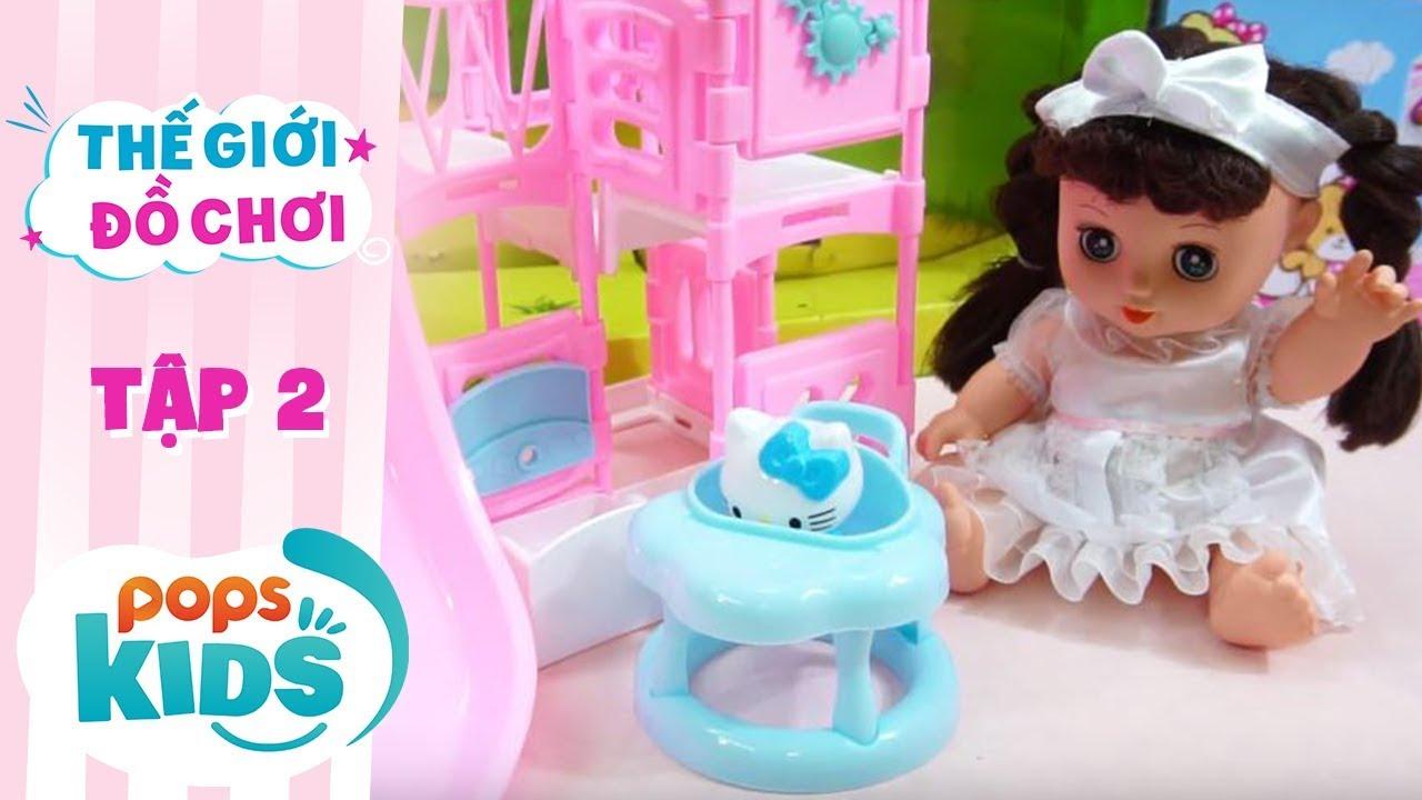 Thế Giới Đồ Chơi - Tập 2 - Mình Cùng Chơi Cầu Tuột Với Hello Kitty | Baby Dolls & Toys Review