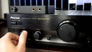 Pioneer A-307R amplifier + Philips speakers sound test [HQ record]