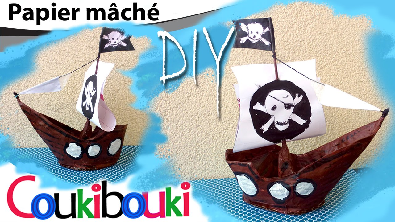 diy bateau de pirates en papier m ch activit pour enfant comment faire how to make. Black Bedroom Furniture Sets. Home Design Ideas