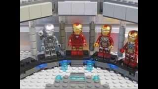 Lego Custom Iron Man 3 Hall of Armor!!!!!!!