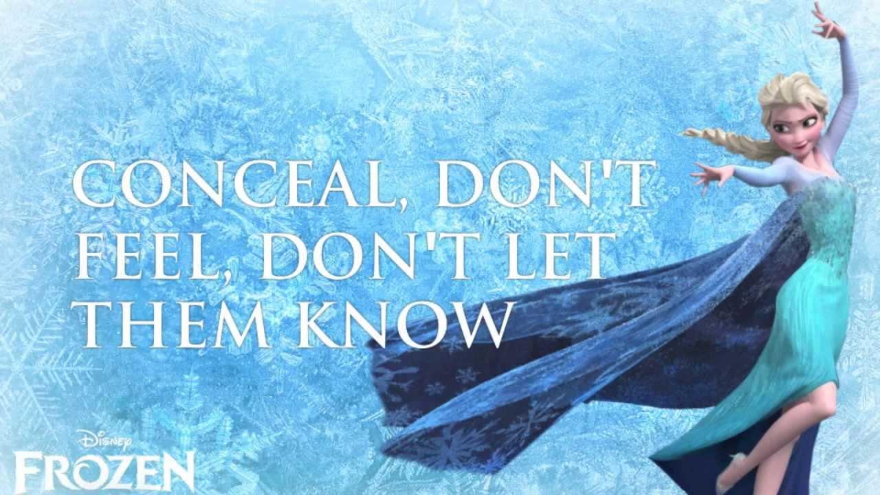 Let It Go (FROZEN) - Idina Menzel (Lyrics) - YouTube