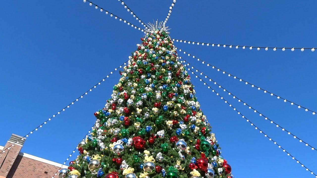 christmas tree and village at disneylands downtown disney 2015 - Downtown Disney Christmas