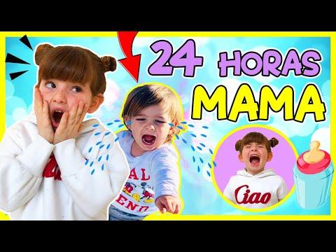 🍼 24 HORAS SIENDO MAMÁ de UN BEBÉ REAL 😲 MAMA por un DÍA del HERMANITO PEQUEÑO de INDY