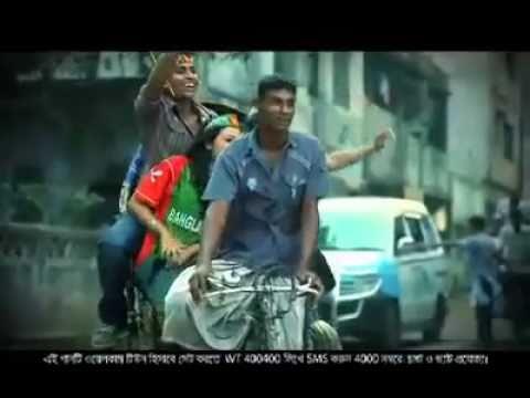 Cricket Bangladesh  ICC World cup 2011 Theme Video  Grameen phone Jole utho Shoto asha Shunno