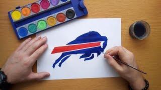How to draw the Buffalo Bills logo