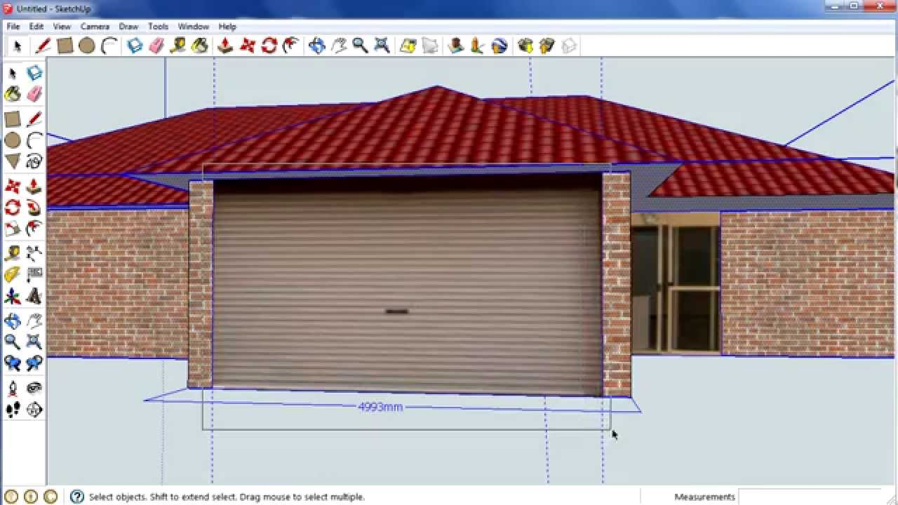 Sketchup house step 5 importing pictures into sketchup for Sketchup import