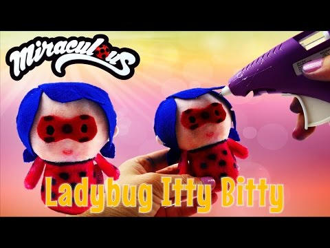 EASY DIY Miraculous Ladybug Plush Toy with Hallmark Itty Bittys | Evies Toy House