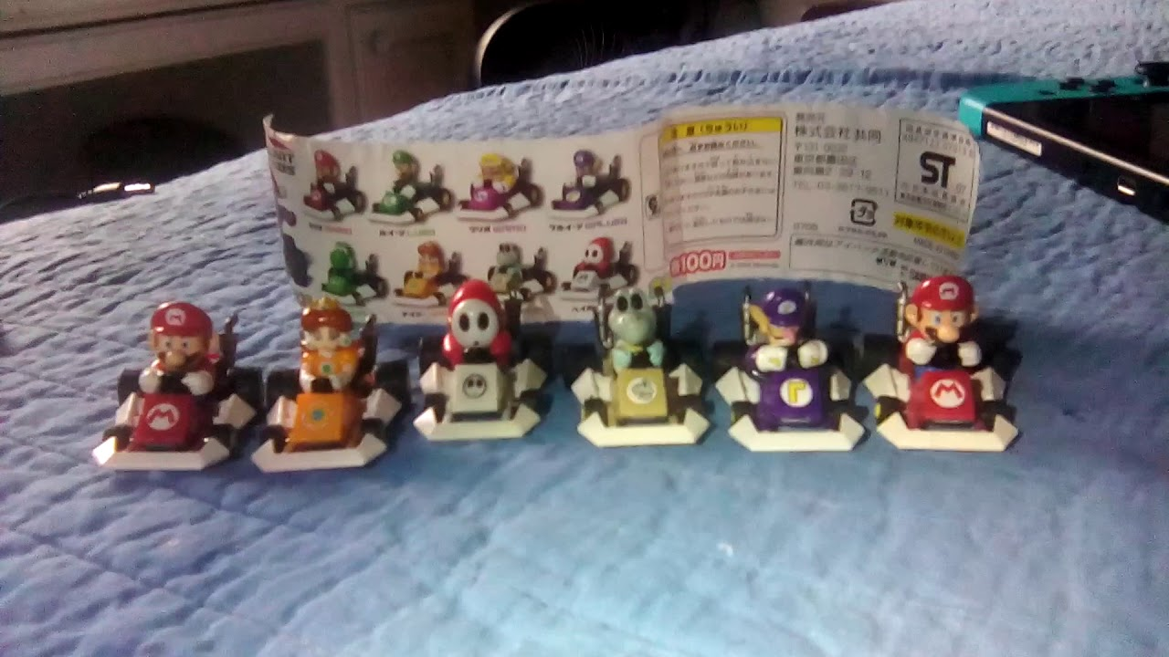 Mario Kart Ds Gashapon Yujin Mini Mini Karts Waluigi Daisy