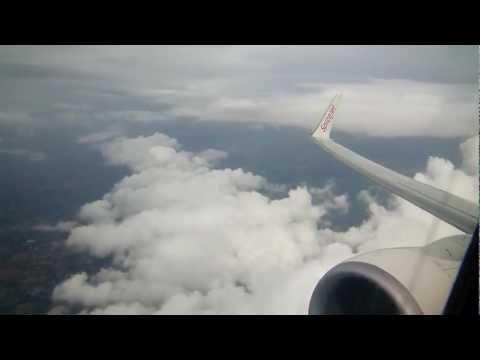Boeing 737-800 CJB-DEL SpiceJet: Take-off (RWY 23) [Wing View]