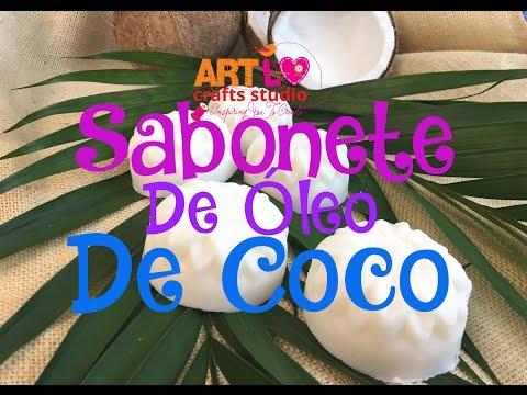 🔴 Faça  Sabonete Caseiro De Óleo De Coco! How To Coconut Oil Soap Recipe E 74 ENG/ESP SUB