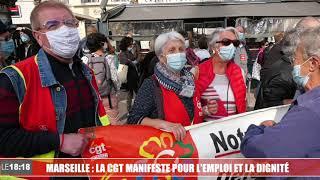 Marseille : plusieurs centaines de personnes réunies pour la manifestation de la CGT