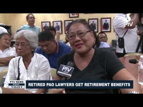 Retired PAO lawyers get retirement benefits