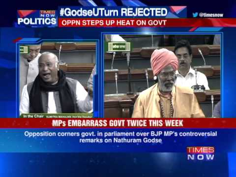Sakshi Maharaj Expresses Regret In LS Over Nathuram Godse Remarks