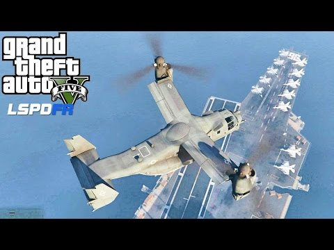 GTA 5 MOD - EPiSODE 55 - LET'S BE COPS - CV-96 CARRIER PATROL (GTA 5 PC POLICE MOD) NAVY