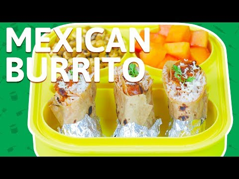 Mexican Burritos Recipe - How To Make Indian Style Burritos - Healthy Recipe For Kids Tiffin