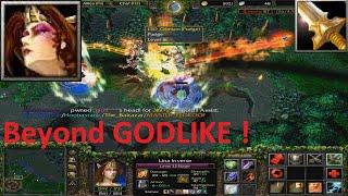 DotA 6.85k - Lina Beyond GODLIKE + DIVINE (Game with Fans)