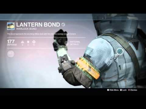 Destiny: The Taken King - Lantern Bond (Warlock Bond) Information Tree & Appearance Demo 1080p