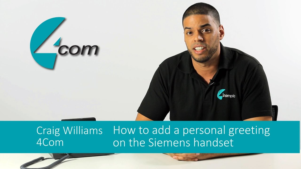 How to record a personal voicemail greeting using a siemens how to record a personal voicemail greeting using a siemens business phone kristyandbryce Image collections