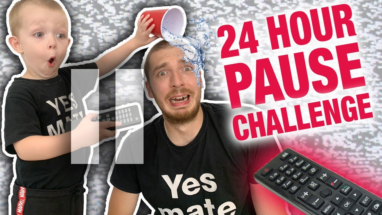 Funniest 24 hour pause challenge with toddler 📺🤚🏻