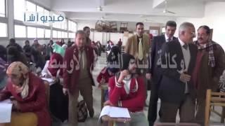 بالفيديو. أول يوم من بدء امتحانات جامعة المنيا
