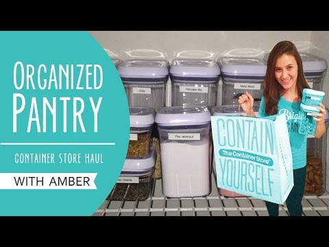 Organized Pantry | Container Store Haul