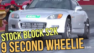 S2000 9 Second Wheelie 9.5@147 RSP S2K 1/4 Mile Drag Pass 9.548@147.23 REAL STREET PERFORMANCE