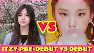 ITZY - PRE-DEBUT VS DEBUT [JYP's new girl group]