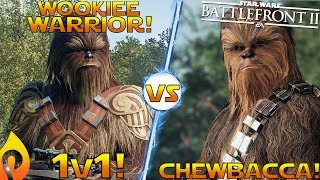 1v1 The Wookiee Warrior Is Better Than Chewbacca in Star Wars Battlefront 2?