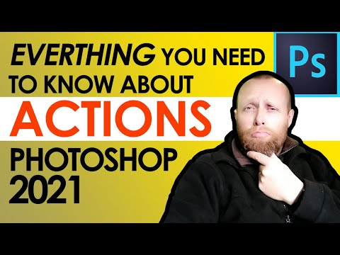 How to use Actions in Photoshop 2021 - How to Record Actions in Photoshop