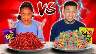SPICY VS SOUR FOOD CHALLENGE!