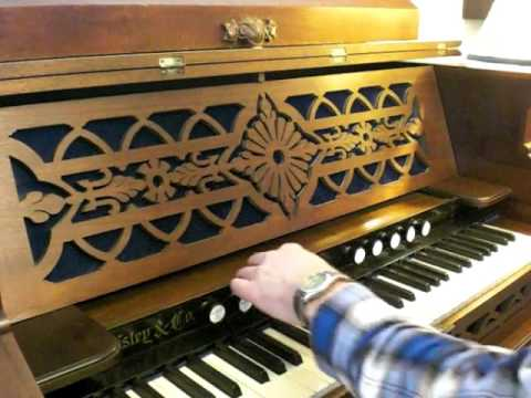 MY 1875 ESTEY REED ORGAN CUSTOMIZED. (DEMO VIDEO)
