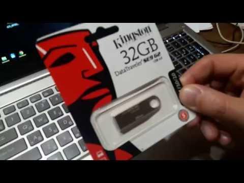 Распаковка флешки Kingston DataTraveler SE9 32GB, купленной в rozetka.com.ua