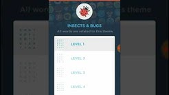 Wordbrain 2 Ace Insects & Bugs Level 1-5 Answers Walkthrough