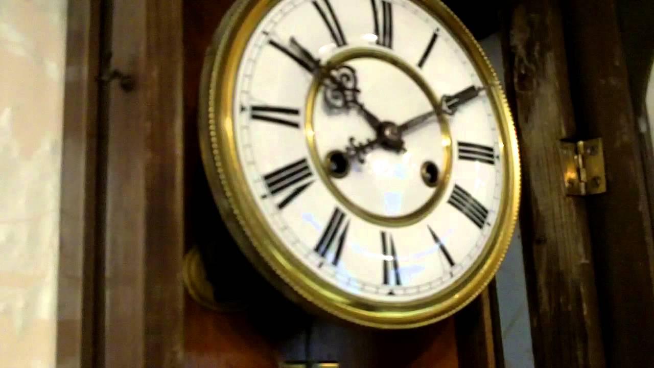 Victorian vienna wall clock c1890 youtube victorian vienna wall clock c1890 amipublicfo Choice Image