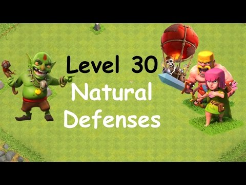 Clash of Clans - Single Player Campaign Walkthrough - Level 30 - Natural Defenses