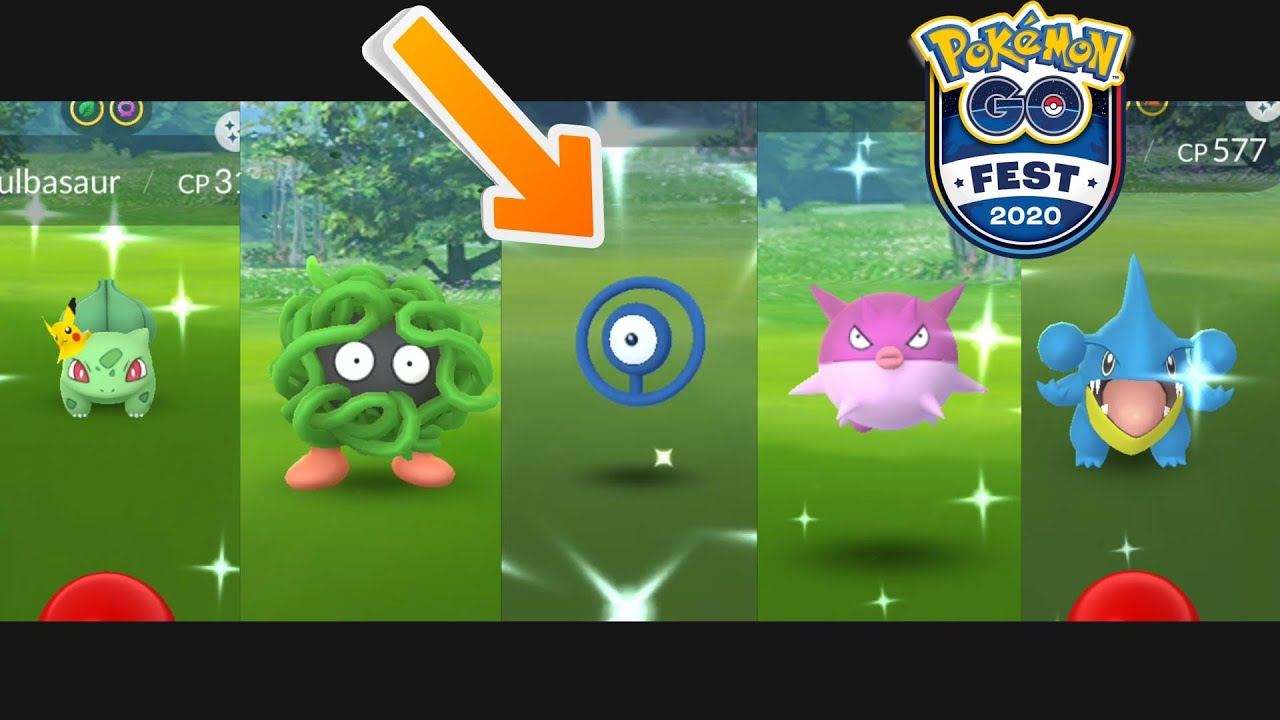Shiny Unown Shown In Pokmon GO Fest 2020 Kickoff Video