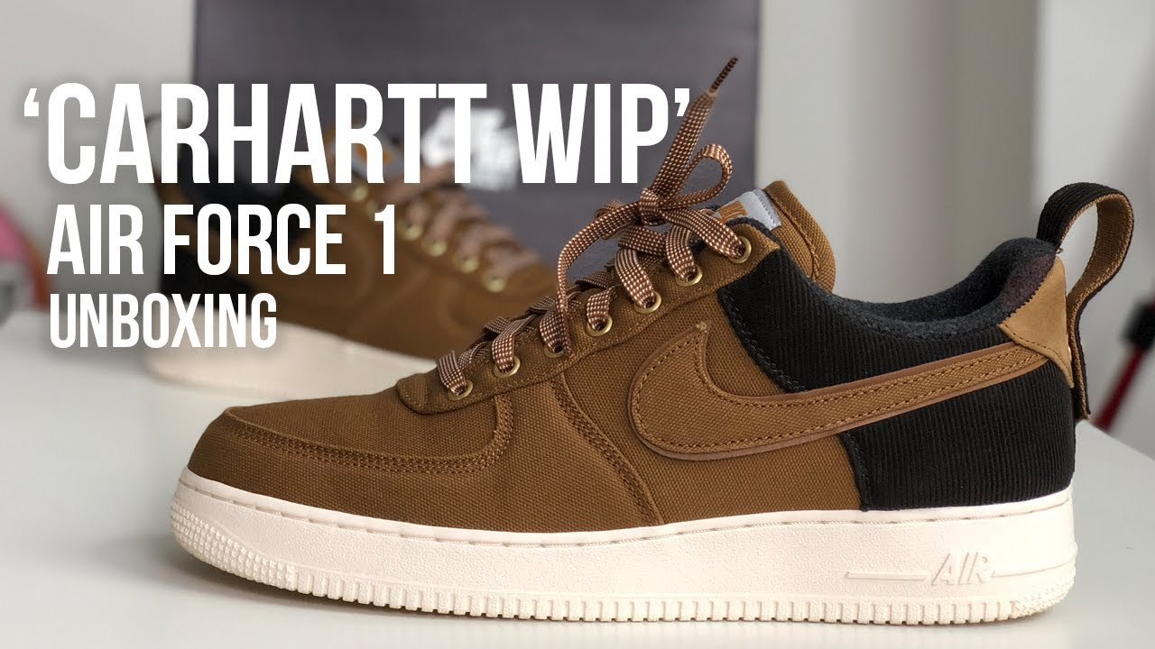 Nike x Carhartt WIP Air Force 1 Sneaker Unboxing